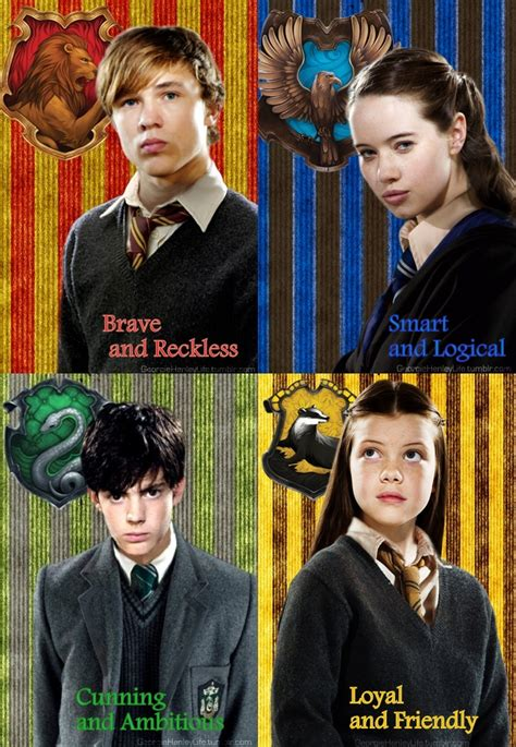 what are the houses in harry potter narnia siblings sorted on harry potter houses the chronicles of narnia photo