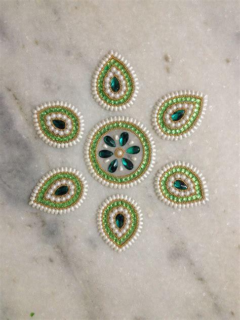 Anting Tusuk Pearl Decorated Flower Shape Design Wp Black top 25 new kundan floor rangoli design images collection