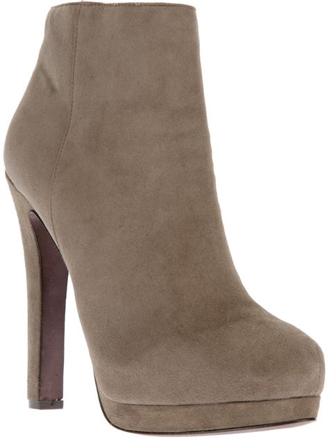 high heel grey boots ash high heel ankle boot in gray grey lyst
