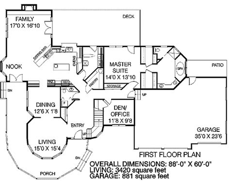 large victorian house plans large victorian home plan 7847ld 1st floor master