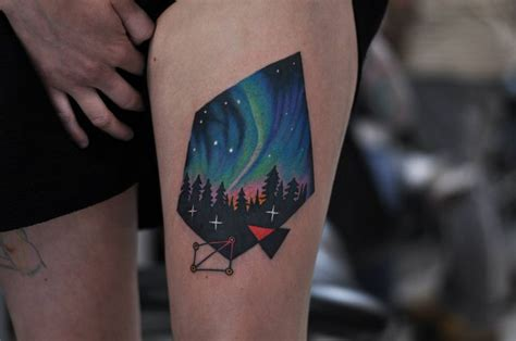 diamond tattoo aurora northern lights tattoo by david cote ink is art