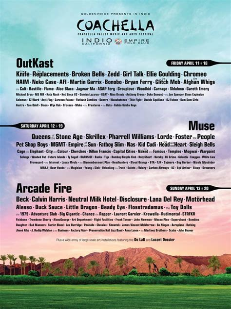 ferry afi coachella 2014 lineup official poster image
