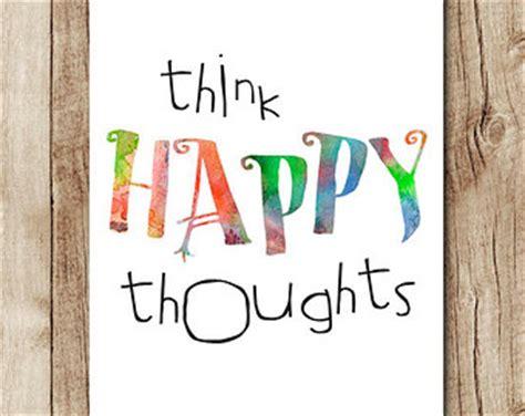 Items similar to Inspirational Wall Art - Think Happy ...