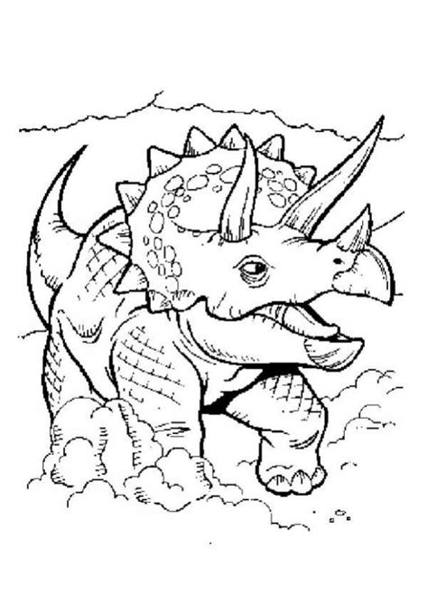 Triceratops Coloring Pages Hellokids Com Triceratops Coloring Page