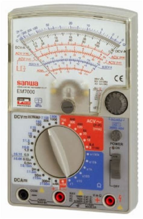 Multimeter Analog Sanwa sanwa em7000 analog multimeter fet testergenuine by sanwa