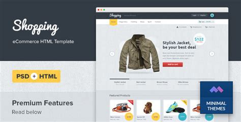 ecommerce html template 30 best ecommerce responsive html templates 2016