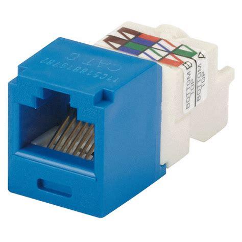 Panduit Modular Cat6 panduit modular blue plastic series mini cable type category 6 5zvx0 cj688tpbu