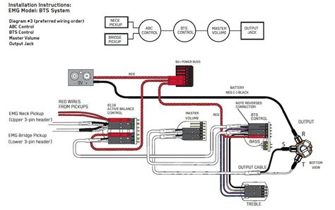 emg bass wiring diagram