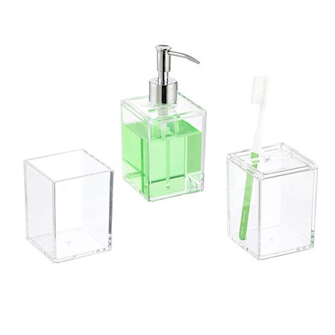 acrylic bathroom set clear acrylic countertop bathroom set the container store