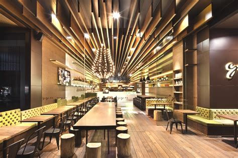 Natural Wood Kitchen Island by Luxury Restaurant Design Gaga Shenzhen China 171 Adelto