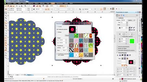 vector pattern corel draw x6 criando preenchimento de padr 227 o vector patterns
