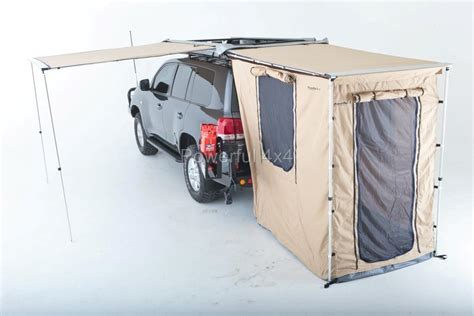 4wd shade awning savannah 2 5m x 2m 4wd side rear awning 4x4 320gram