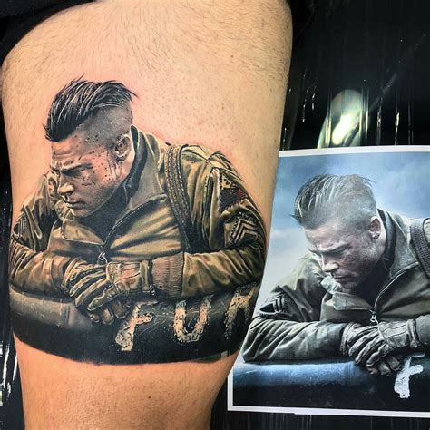 brad pitt wrist tattoo brad pitt from fury by major jackson at major ink in