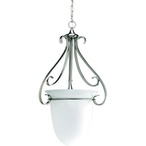 foyer torino progress lighting torino 3 light brushed nickel foyer