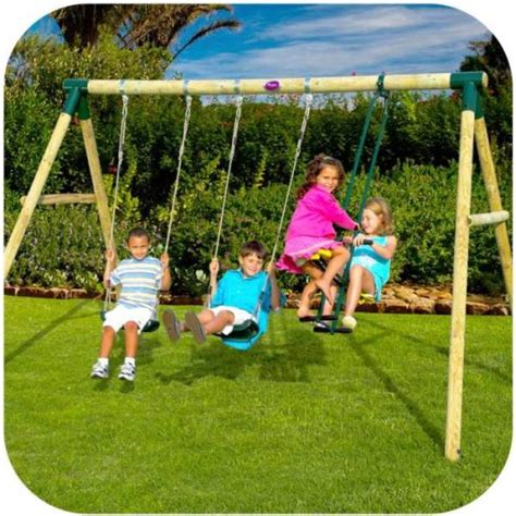 swing kids review plum 2 swing glider wooden double kids swing set buy