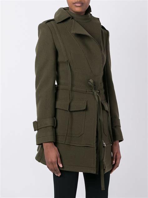 Drawstring Waist Coat lyst mcqueen drawstring waist coat in blue