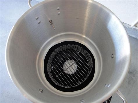 Cooker Vent Cover View Into Mini Wsm Of Charcoal Chamber And Vent Cover