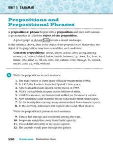 prepositional phrase worksheets for second grade new 909