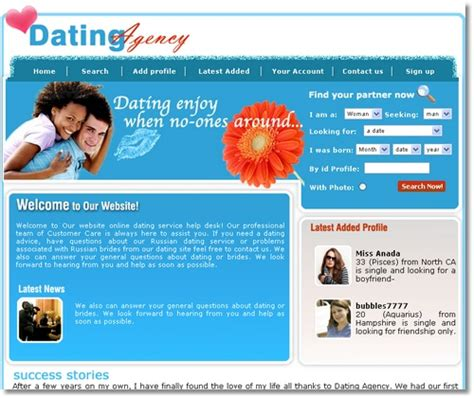 dating site template free 5 free professional dating website templates to