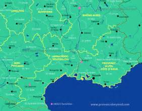 Map Of The South Of France by Map South France Images