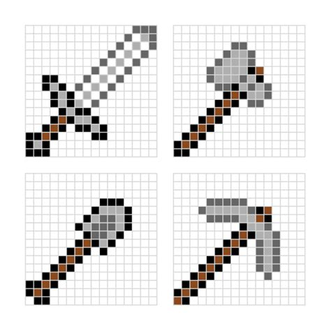 hama bead template printable minecraft designs for hama minieco