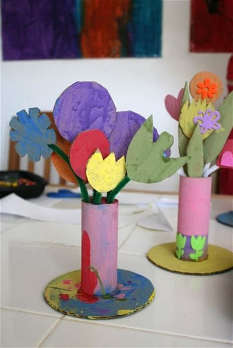 Cardboard Flower Vases by Toilet Paper Roll Vases Munchkins And