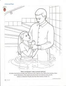 baptism coloring pages happy clean living primary 3 lesson 27