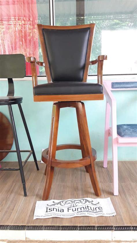 Kursi Kayu Bar kursi bar tanganan bahan kayu jati jual harga murah desain