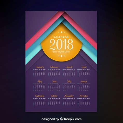 Vector Calendar 2018 Modern 2018 Calendar Vector Free