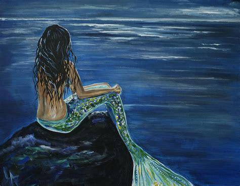 mermaid painting enchanted mermaid by leslie allen
