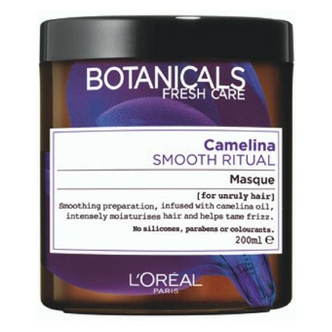 Loreal Hair Mask Smooth l or 233 al hair botanicals camelina smooth ritual