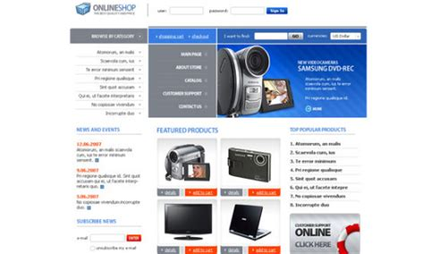 free css templates for shopping 35 free amazing html css templates