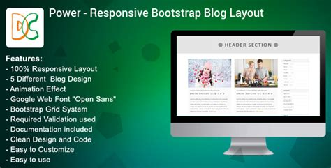 blog layout with bootstrap power bootstrap blog layout design by designcollection