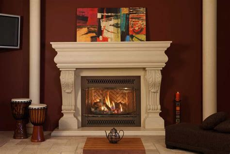 White House Fireplaces by House With Brown Walls And White Precast Fireplace Mantel