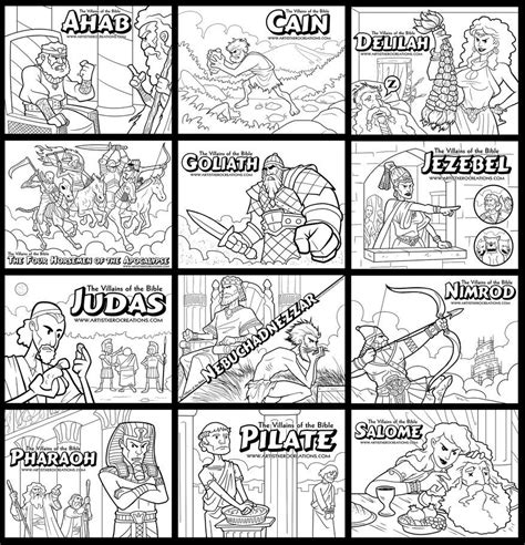 coloring pages for the book of judges the villains of the bible coloring pages by artistxero on