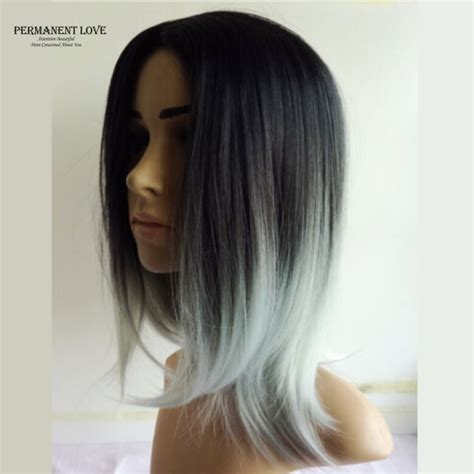 grey hair on mid length hair wig queen picture more detailed picture about silk