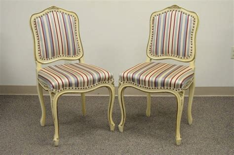 set   french provincial louis xv style cream painted