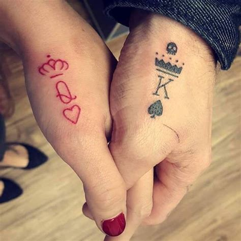 king and queen finger tattoos best 25 king ideas on