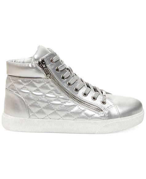 steve madden decaf hightop quilted platform sneakers in