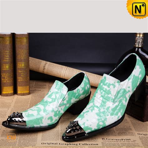 mens unique pointed toe dress loafers shoes cw751528