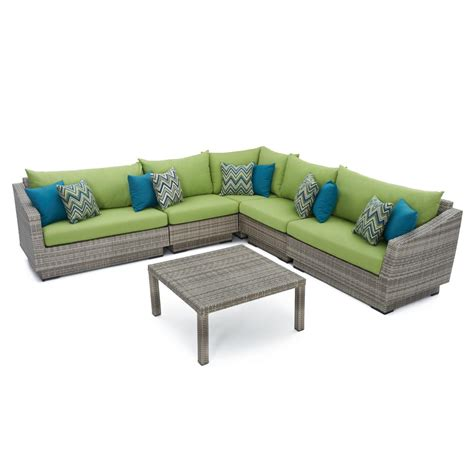 Rst Patio Furniture Rst Brands Cannes 6 Piece Patio Corner Sectional Set With