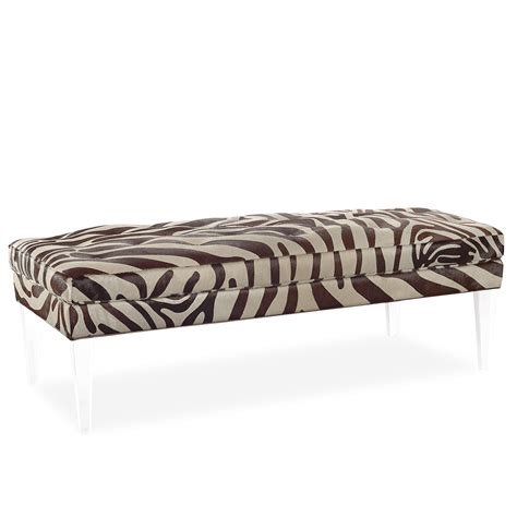 ottomans with legs ottoman bench with acrylic legs villa vici contemporary