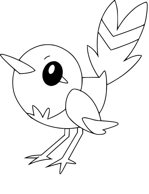 pokemon coloring pages fletchling pokemon fletchling coloring pages images pokemon images