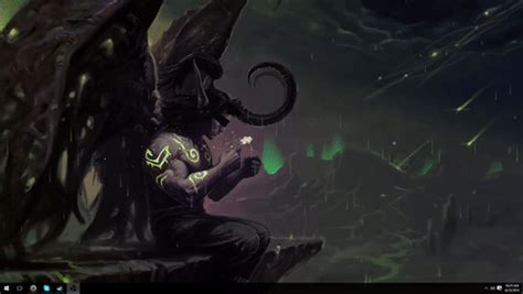 theme windows 10 world of warcraft my illidan stormrage desktop rainmeter theme wow