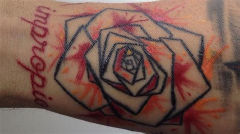 rose watercolor impropio origami tattoo pinterest