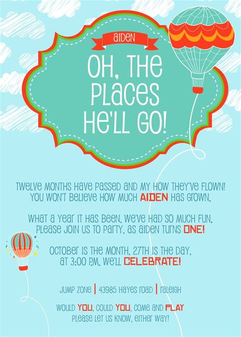 Oh The Places You Ll Go Baby Shower Invitations by Pin By Swingle On S Shower