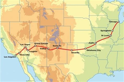 usa map km route 66 motorcycle tour guided motorcycle tour