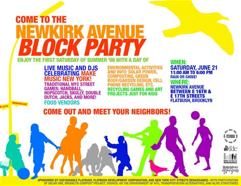block template flyer event programs flyers sustainable flatbush