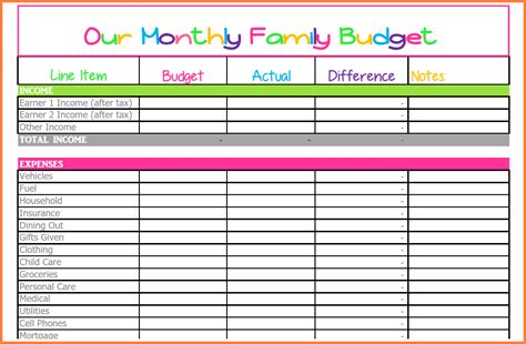 10 monthly bill spreadsheet template excel spreadsheets