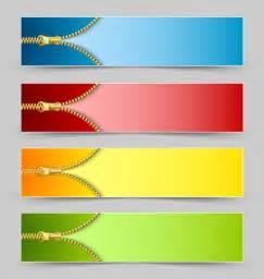 Golden zipper banner vector vector banner free download